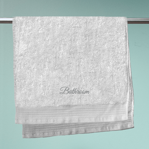 Bathroom Embroidered Hand Towel