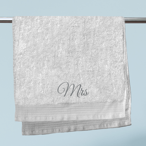 Mrs Embroidered Hand Towel