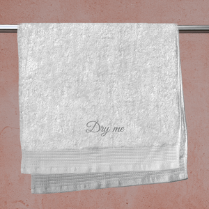 Dry Me Embroidered Hand Towel