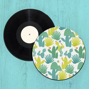 Cactus Forest Record Player Slip Mat