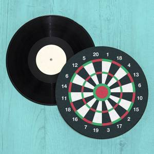 Dart Board Record Player Slip Mat