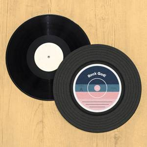 Rock God Vinyl Record Player Slip Mat