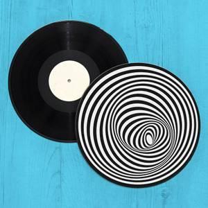 Optical Illusion Record Player Slip Mat