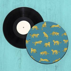Leopard Record Player Slip Mat