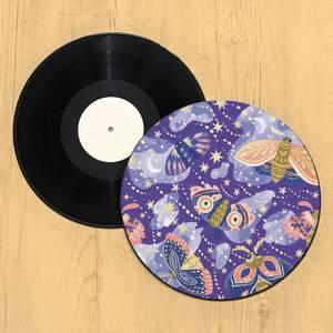 Galaxy Moth Record Player Slip Mat