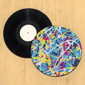 Paint Splatter Record Player Slip Mat
