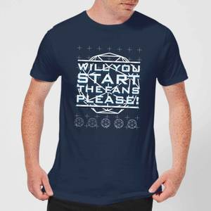 Crystal Maze Will You Start The Fans Please! Men's T-Shirt - Navy