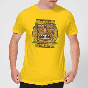 Crystal Maze Aztec Idol Men's T-Shirt - Yellow