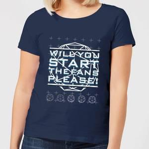 Crystal Maze Will You Start The Fans Please! Women's T-Shirt - Navy