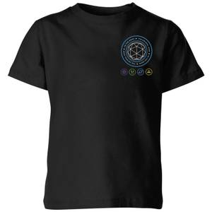 Crystal Maze Crystal Pocket Kids' T-Shirt - Black