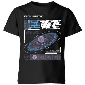 Crystal Maze Futuristic Zone Kids' T-Shirt - Black