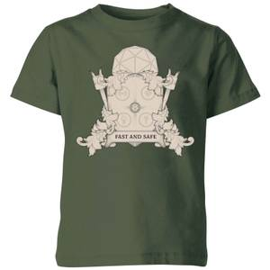Crystal Maze Fast And Safe Crest Kids' T-Shirt - Forest Green