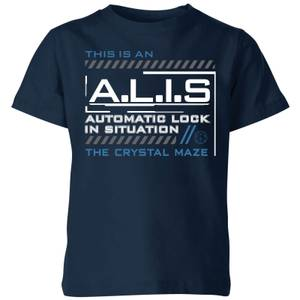 Crystal Maze A.L.I.S. Kids' T-Shirt - Navy