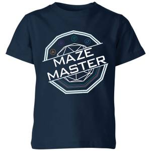 Crystal Maze Maze Master Kids' T-Shirt - Navy