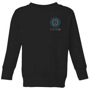 Crystal Maze Crystal Pocket Kids' Sweatshirt - Black