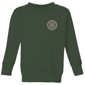 Crystal Maze Fast And Safe Pocket Kids' Sweatshirt - Forest Green