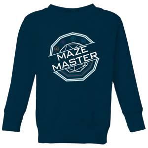 Crystal Maze Maze Master Kids' Sweatshirt - Navy