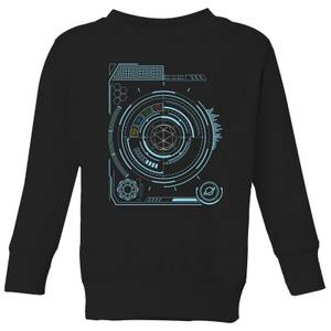 Crystal Maze Futuristic Crystal Kids' Sweatshirt - Black
