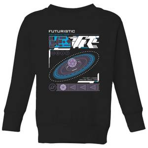 Crystal Maze Futuristic Zone Kids' Sweatshirt - Black