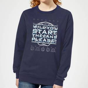 Crystal Maze Will You Start The Fans Please! Women's Sweatshirt - Navy