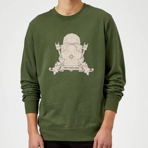 Crystal Maze Fast And Safe Crest Sweatshirt - Forest Green