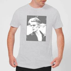 David Bowie Wild Profile Framed Men's T-Shirt - Grey