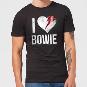 David Bowie I Love Bowie Men's T-Shirt - Black
