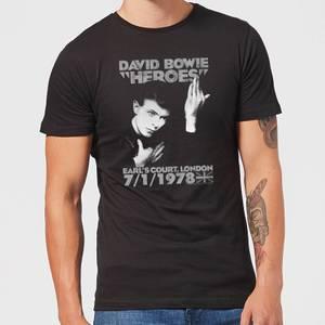David Bowie Heroes Earls Court Men's T-Shirt - Black