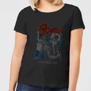 David Bowie 72 Tour Women's T-Shirt - Black