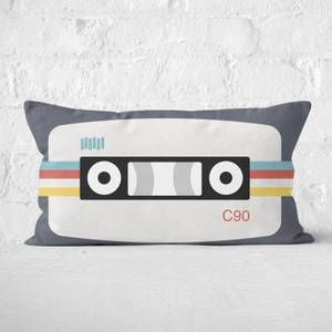 Audiocassette Tape Rectangular Cushion