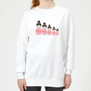 Pink Geisha Russian Doll Women's Sweatshirt - White