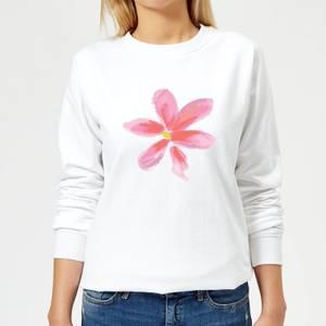 Flower 2 Women's Sweatshirt - White
