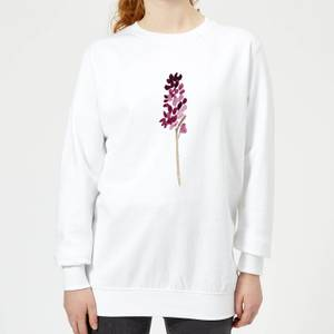 Hyacinth Purple Flower Women's Sweatshirt - White