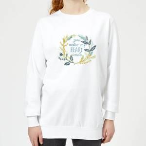 You Make My Heart Smile Women's Sweatshirt - White