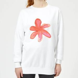 Flower 5 Women's Sweatshirt - White