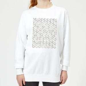 Grey Grassy Blobs Women's Sweatshirt - White