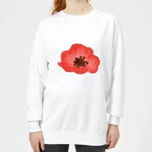 Poppy Women's Sweatshirt - White