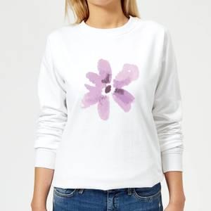 Flower 3 Women's Sweatshirt - White