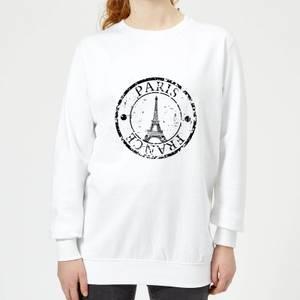 Paris France Women's Sweatshirt - White