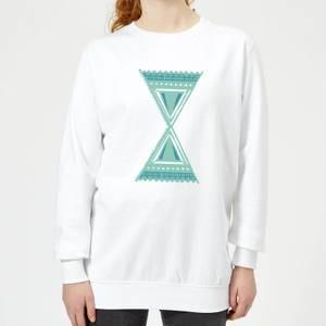 Abstract Pattern 3 Women's Sweatshirt - White