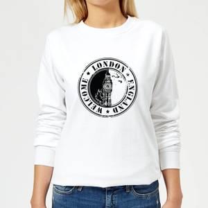 Welcome London England Women's Sweatshirt - White