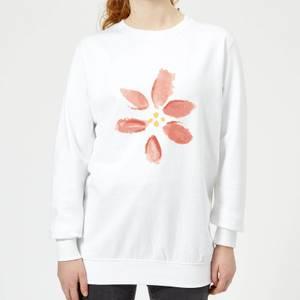 Flower 8 Women's Sweatshirt - White