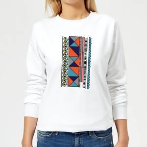 Abstract Pattern Women's Sweatshirt - White