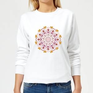 Floral Mandala Women's Sweatshirt - White