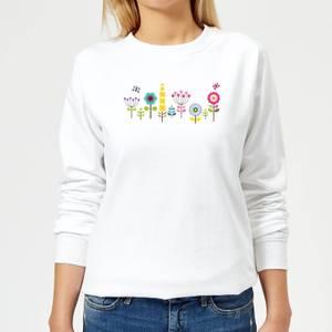 Childish Flowers 1 Women's Sweatshirt - White