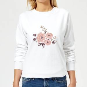 Roses & Grapes Women's Sweatshirt - White