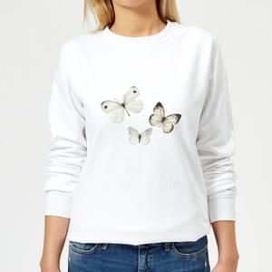 Butterfly Trio Women's Sweatshirt - White