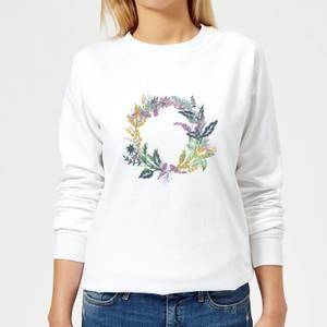 Flower Spring Reef Women's Sweatshirt - White