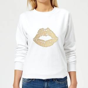 Lipstick Kiss Mark Women's Sweatshirt - White