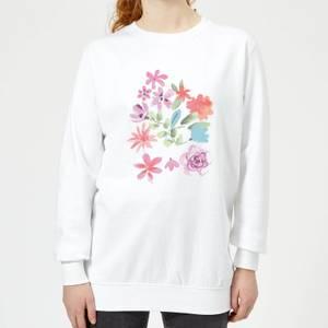 Flower Garden Women's Sweatshirt - White